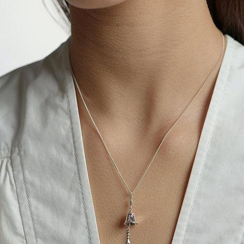 Karen Walker Bell Necklace Silver