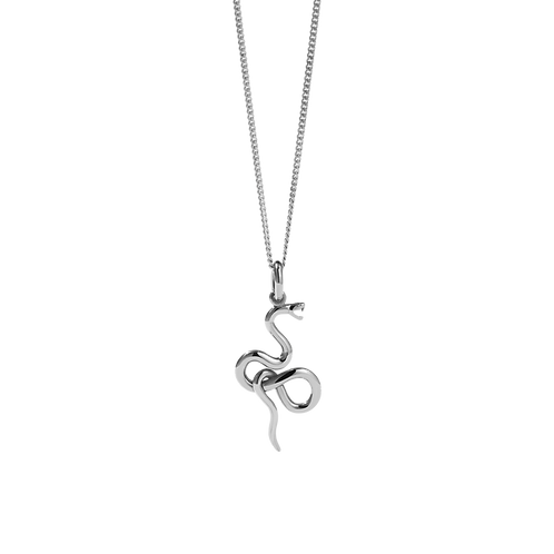 Meadowlark Stg Silver Medusa necklace - necmedss