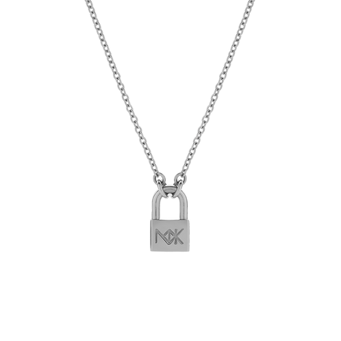 Meadowlark Stg Silver Medium Lock Necklace 50cm Adjustable - necklm
