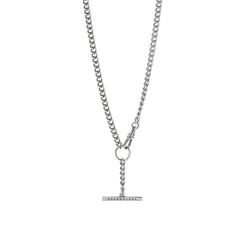 Meadowlark Stg silver Fob Chain necklace $545 necfocss
