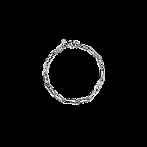 Meadowlark Stg silver Essentials Paperclip Heavy Bracelet 19cm $135 chbpchbssml
