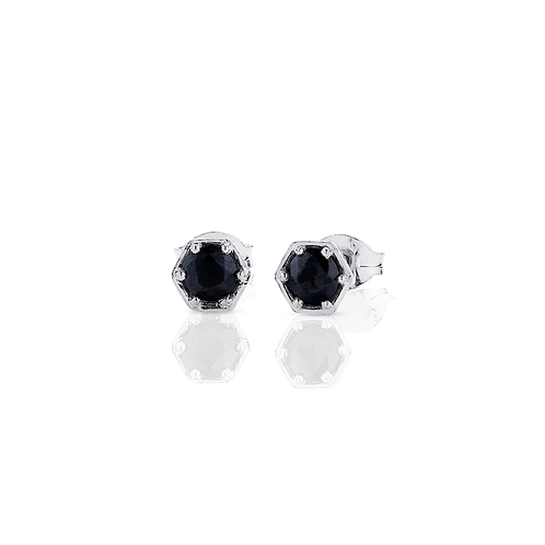Meadowlark Stg silver Hexagon Midnight Sapphire stud earrings $199 stuhesss