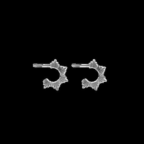 Meadowlark Stg silver maiden hoop earrings small - dromh