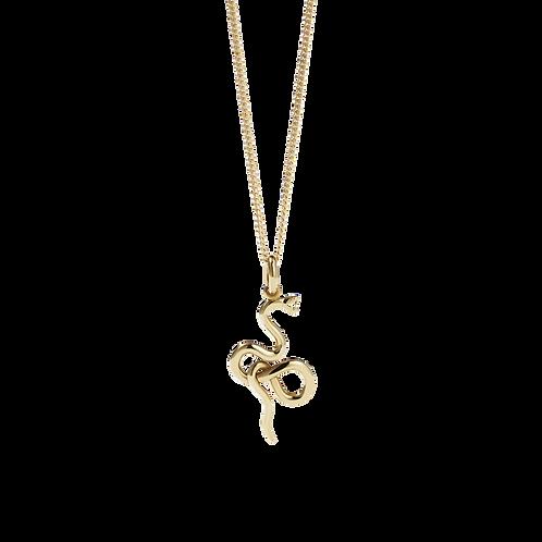 Meadowlark Stg Silver yellow gold plated Medusa Necklace - necmedgp