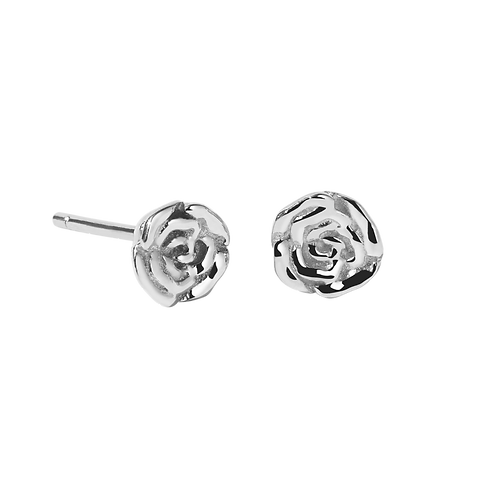 Meadowlark Stg silver Rose stud earrings - sturosss
