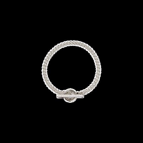 Meadowlark Stg silver Fob Bracelet $365 brafobss