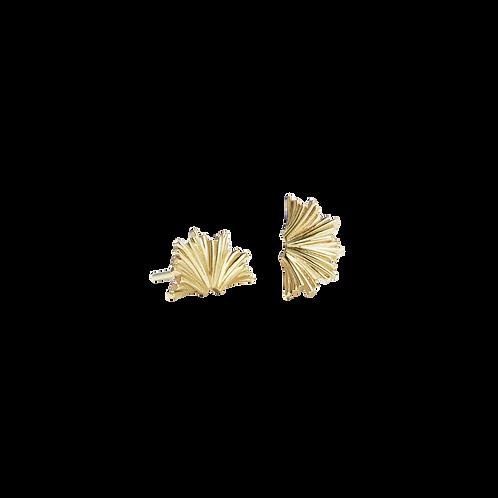 Meadowlark Vita Stud Earrings Small Stg Silver Yellow Gold Plated