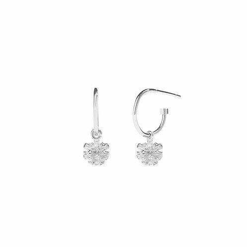 Meadowlark Stg Silver Pom Pom Signature Hoop Earrings - dropom2ss