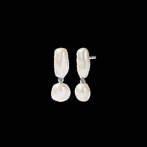 Meadowlark Stg silver Joy Pearl Earrings - stujoyss