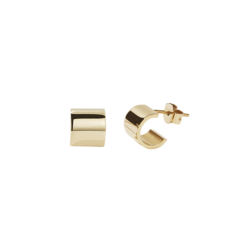 Meadowlark Stg silver yellow gold plated Cuff Stud earrings - stucufgp