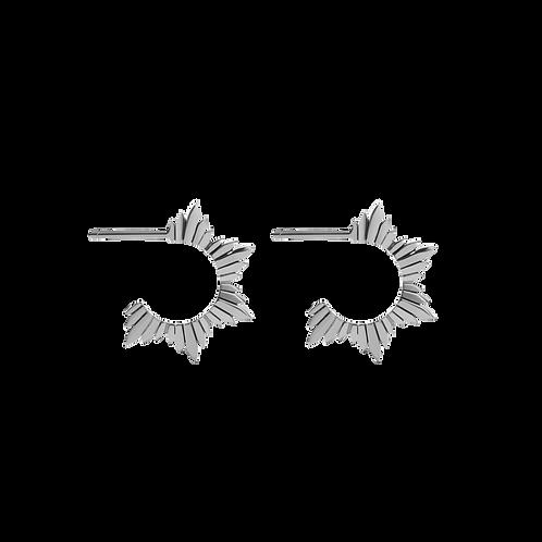 Meadowlark Stg silver maiden hoop earrings medium - dromhmss