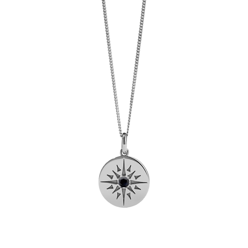 Meadowlark Stg silver Ursa Midnight Sapphire large necklace - necurl
