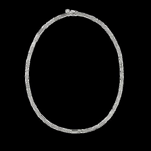 Meadowlark Stg silver Essentials Paperclip Light Necklace 45cm $155 necpclnss45
