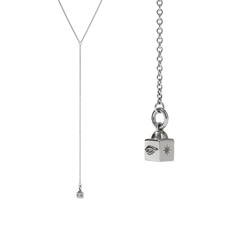 Meadowlark Stg silver Lumiere Lariat Necklace - necllnss