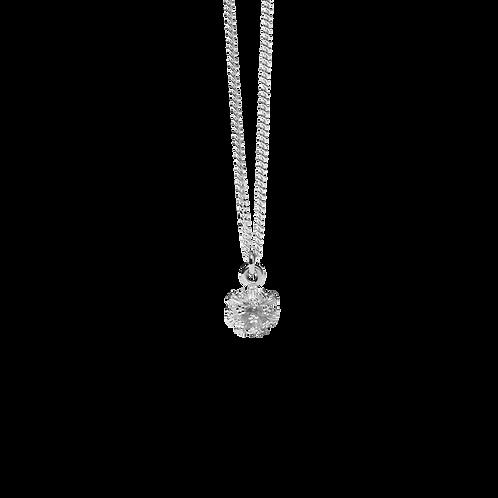 Meadowlark Stg Silver Pom Pom Charm Necklace 50cm Adjustable - chnpomss