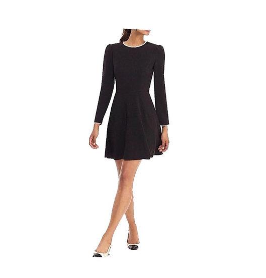 Black Dress Pearl Trim