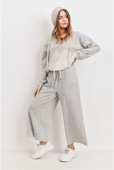 Grey Two Piece Pull Over