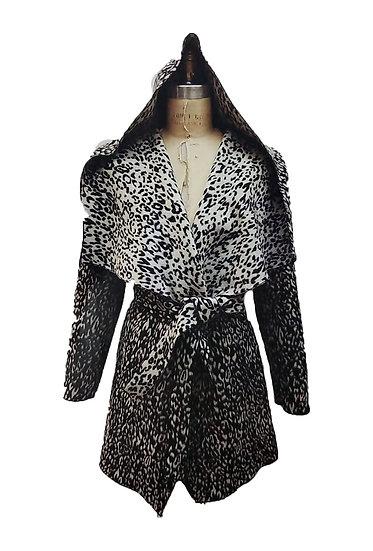 Cheetah Print Wrap Coat