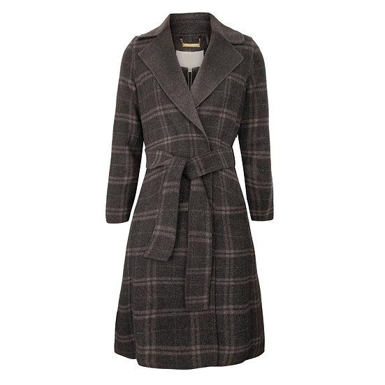 Charcoal Plaid Coat
