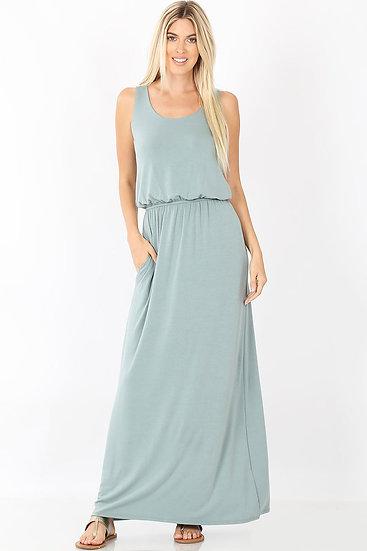 Sea Green Dress