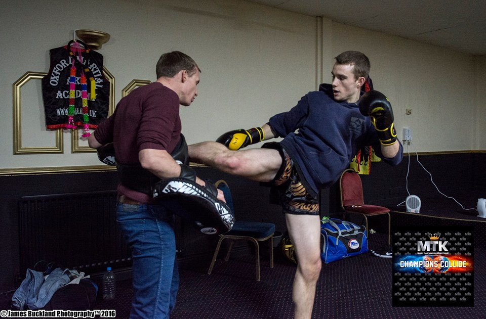 Warming Tommy up before the fight