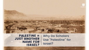 Why do Scholars use Palestine for Israel