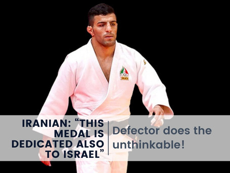 Iranian Defector Dedicates His Olympic Medal to Israel