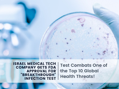 """Israel Medical Tech Company Gets FDA approval for """"Breakthrough"""" Infection Test"""