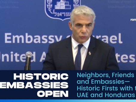 Neighbors, Friends, and Embassies—Historic Firsts with the UAE and Honduras
