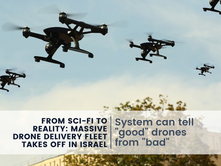 From Sci-fi to Reality: Massive Drone Delivery Fleet Takes Off in Israel