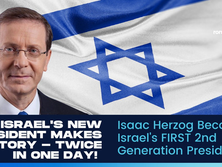 Isaac Herzog Makes History As Israel Elects FIRST 2nd Generation President
