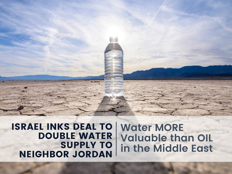 Israel Inks Deal to Double Water Supply to Neighbor Jordan