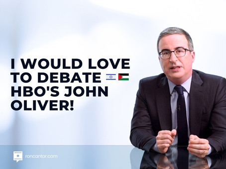 I would love to debate HBO's John Oliver!