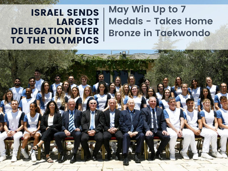 Israel Sends Largest Delegation Ever to the Olympics, May Win Up to 7 Medals