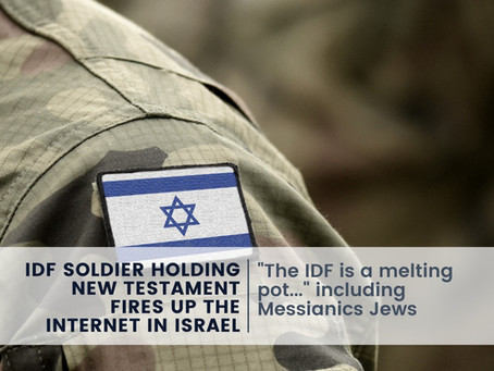 IDF Soldier Holding New Testament Fires Up the Internet in Israel