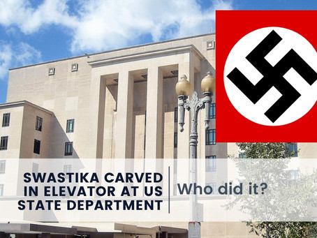 Swastika Carved in Elevator at US State Department