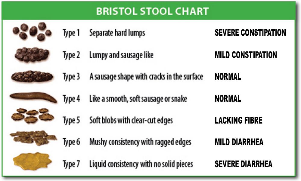 Bristol stool scale from Wikipedia