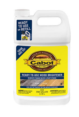 Cabot ready to use wood brightener