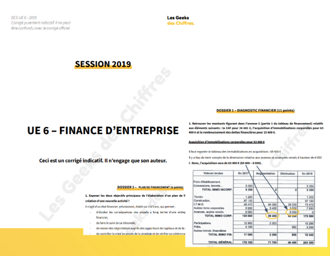 corrigé dcg finance ue6 2019 en PDF