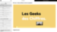 Plateforme elearning Les Geeks des Chiff