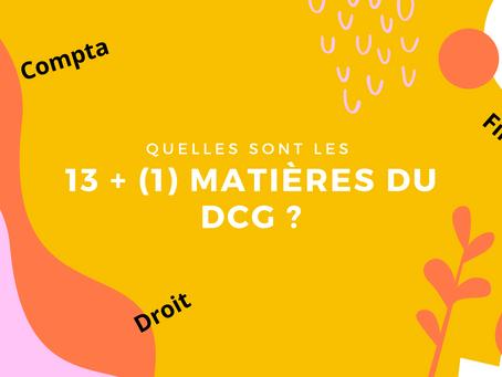 Quelles sont les matières du DCG ?