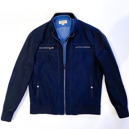 Byron Suede Front Jacket (Navy)