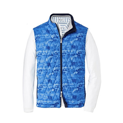 Peter Millar Performance Vest (Blue Camo)