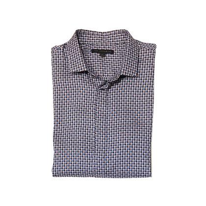 John Varvatos Mini Check Short Sleeve Shirt