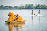 Duck Paddle Boat and SUP Rentals at Wingra