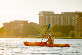 Canoe, Kayak, SUP -paddleboard- downtown.