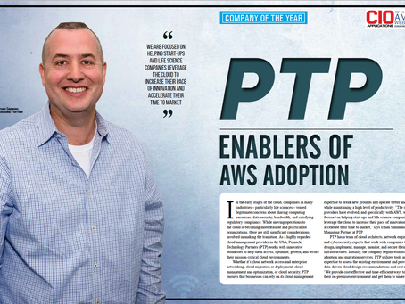 PTP Awarded Company of the Year, AWS Consulting/Services Companies, by CIO Applications