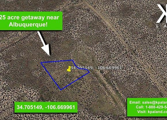 .25 #2 Acre Vacant lot in Belen, NM (APN:1-013-031-260-360-210300)
