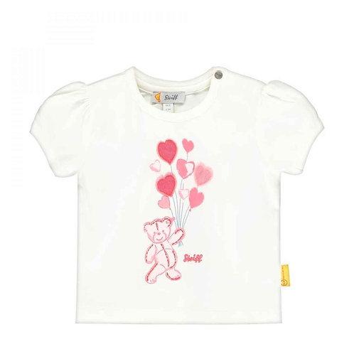 Steiff T-Shirt weiß mit Herzchen