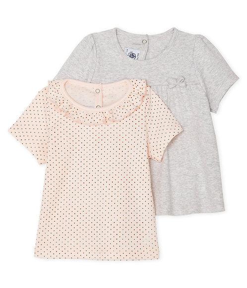 Petit Bateau 2er Set Baby-T-Shirts